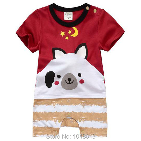 Brand High Quality 100% Cotton Cartoon Ropa Bebe Newborn Baby Boy Baby Clothing Clothes Creeper Jumpsuits Baby Boy Romper Summer newborn baby rompers baby clothing 100% cotton infant jumpsuit ropa bebe long sleeve girl boys rompers costumes baby romper