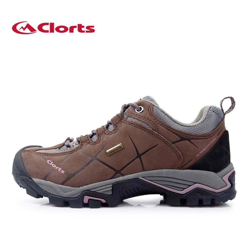 Clorts Lady Hiking Shoes Waterproof Nubuck Outdoor Shoes
