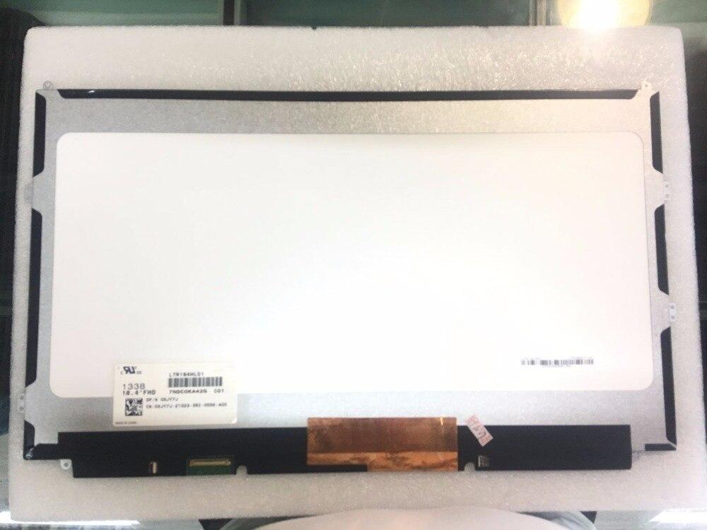 18,4 pulgadas de pantalla LCD de LTM184HL01 PN 0XJY7J para Alienware 18 MSI GT83VR 6RF GT80 2QC 2QE 2QD por favor SDC4C48 FHD 1920*1080 pantalla