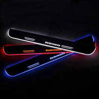 Trim Pedal LED Car Light Door Sill Scuff Plate Pathway Dynamic Streamer Welcome Lamp For BMW BENZ AUDI INFINITI