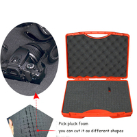 Internal 33*22*7.5cm light weight plastic hard tool case with pick pluck foam