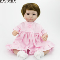 KAYDORA 40cm Silicone Reborn Baby Dolls Toys For Girls Lifelike Newborn Baby Wholesale Bathable Reborn Kids Toys Promotion