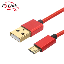 USB Cable Mobile phone cables Fast Charging Android Micro USB GOLD PLUG 5V2.4A Data Charger Cable 30CM 1M 2M 3M phone usb