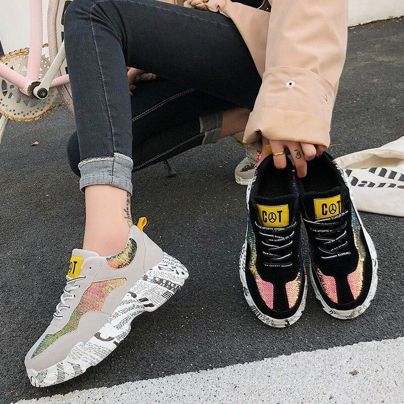 ccc7c92c426275 Peluche Sneaker forme Chaud Sneakers Chunky Papa Nouveau De Sauvage En D'hiver  Hiver Graffiti Chaussures Bling 2018 Femmes Plate Casual Mode vqzCUSw1
