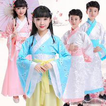 Childrens Hanfu  new costume boy three-character by the disciples of national school performance reading service