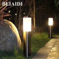 BEIAIDI Outdoor Led Garden Lawn Lamp Waterproof Pillar Lamp Stigma lamp 45/60CM Stainless Steel Courtyard Park Post Column Light