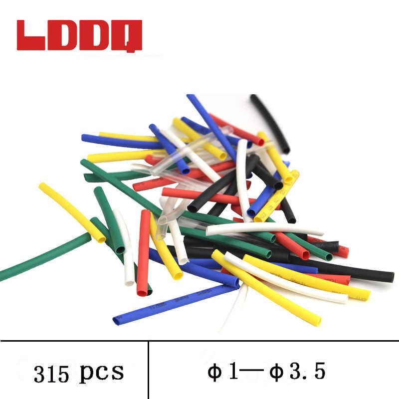 LDDQ 315 шт. термоусадочная трубка 2:1 термоусадочная трубка обертывание рукав для горячего 1 мм 1,5 мм 2 мм 2,5 мм 3 мм изоляционный кабель рукав