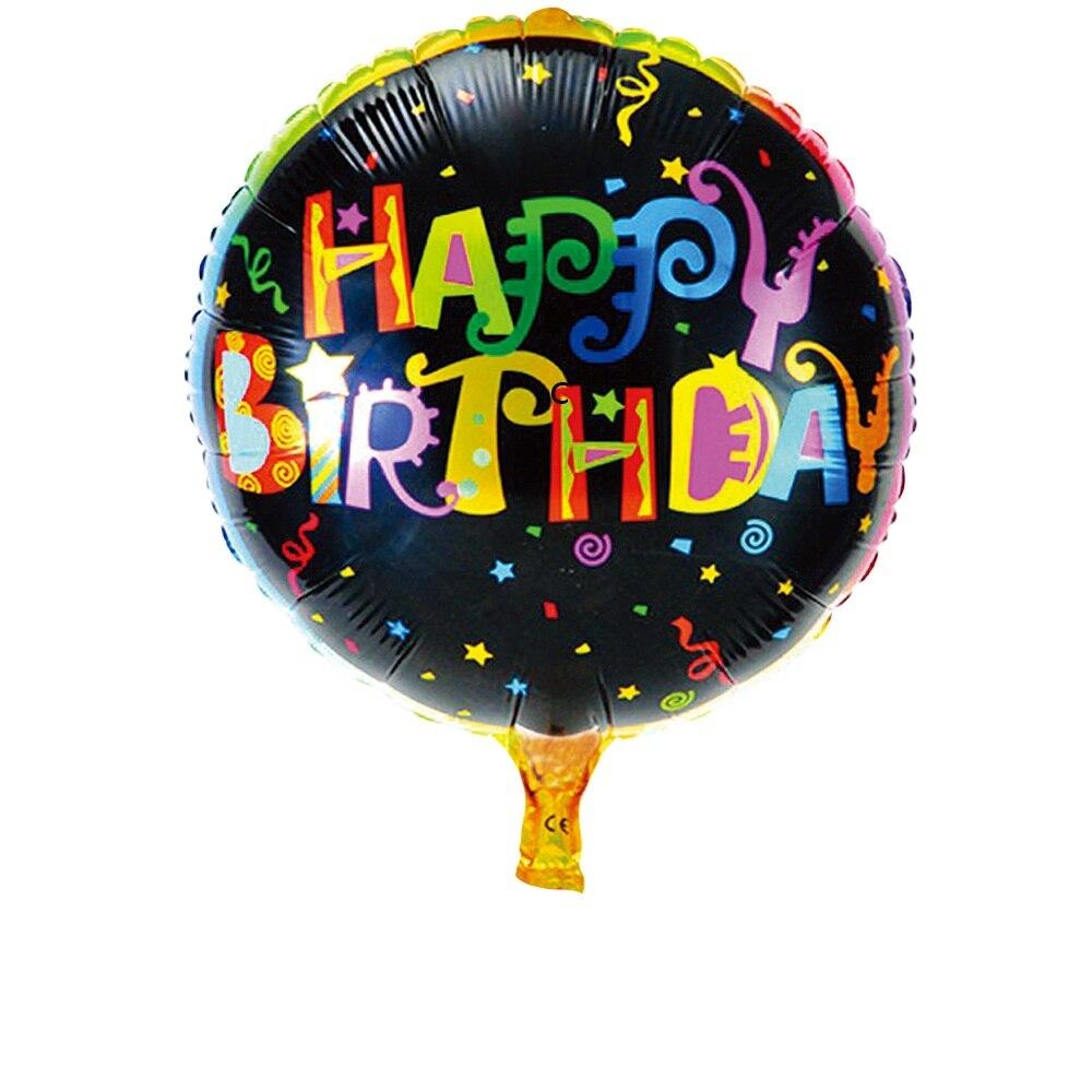 1pcs happy birthday cartoon children 39 s toys party aluminum for Balloon decoration equipment