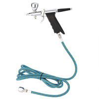 Double Action Spray Gun Airbrush Comperssor Kit Air Brush Set Aerografo With 3 Tips Cups Body