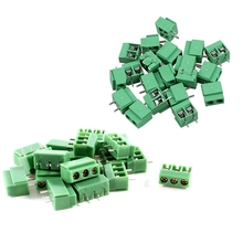 цена на 20 Pcs 3 Pin & 20Pcs 2 Pole 5Mm Pitch Pcb Mount Screw Terminal Block Ac 250V 8A