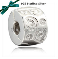Free Shipping S925 Sterling Silver Jewelry Circle Charms in Jewelry Beads Finding Pandora Bracelet Necklace VK0946