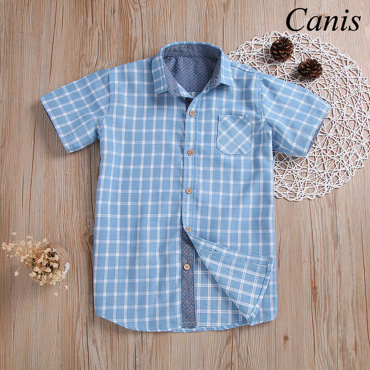 Toddler Kids Baby Boy Plaid Cotton Tops Shirt Casual Clothes SummerToddler Kids Baby Boy Plaid Cotton Tops Shirt Casual Clothes Summer