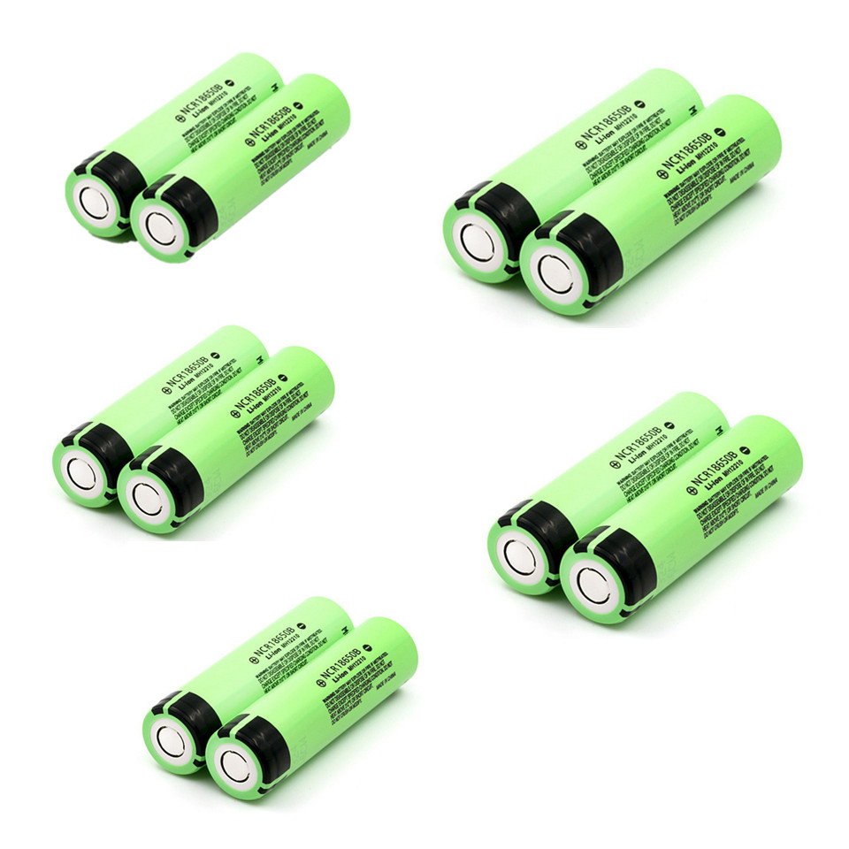 10PCS New Original 18650 3.7 v 3400 mah Lithium Rechargeable Battery NCR18650B