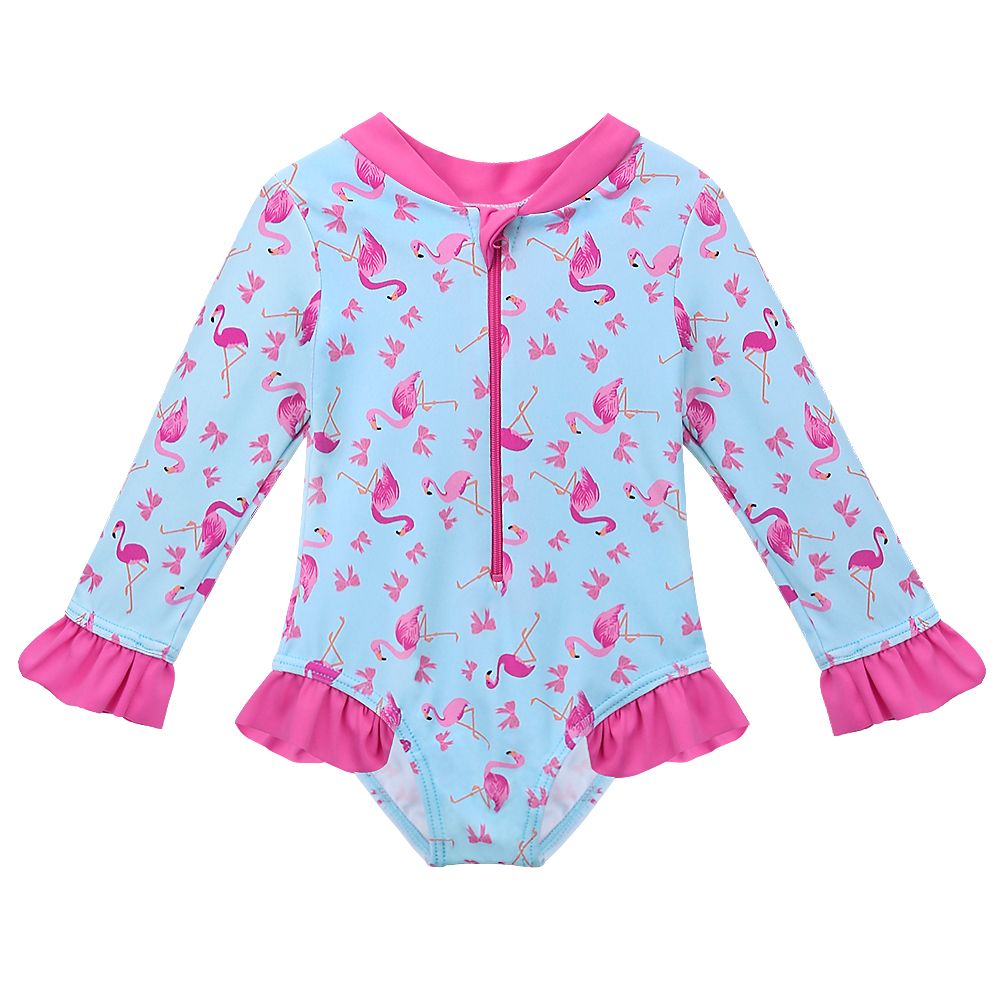 Girls Swimsuit With Sleeves