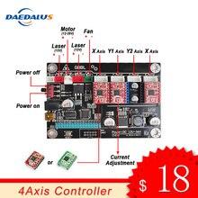 4 трехосный контроллер ЧПУ с Двойной Осью Y USB драйвер плата управления Лер Лазерная доска GRBL управления для 3018 1610 2418 гравировальный станок