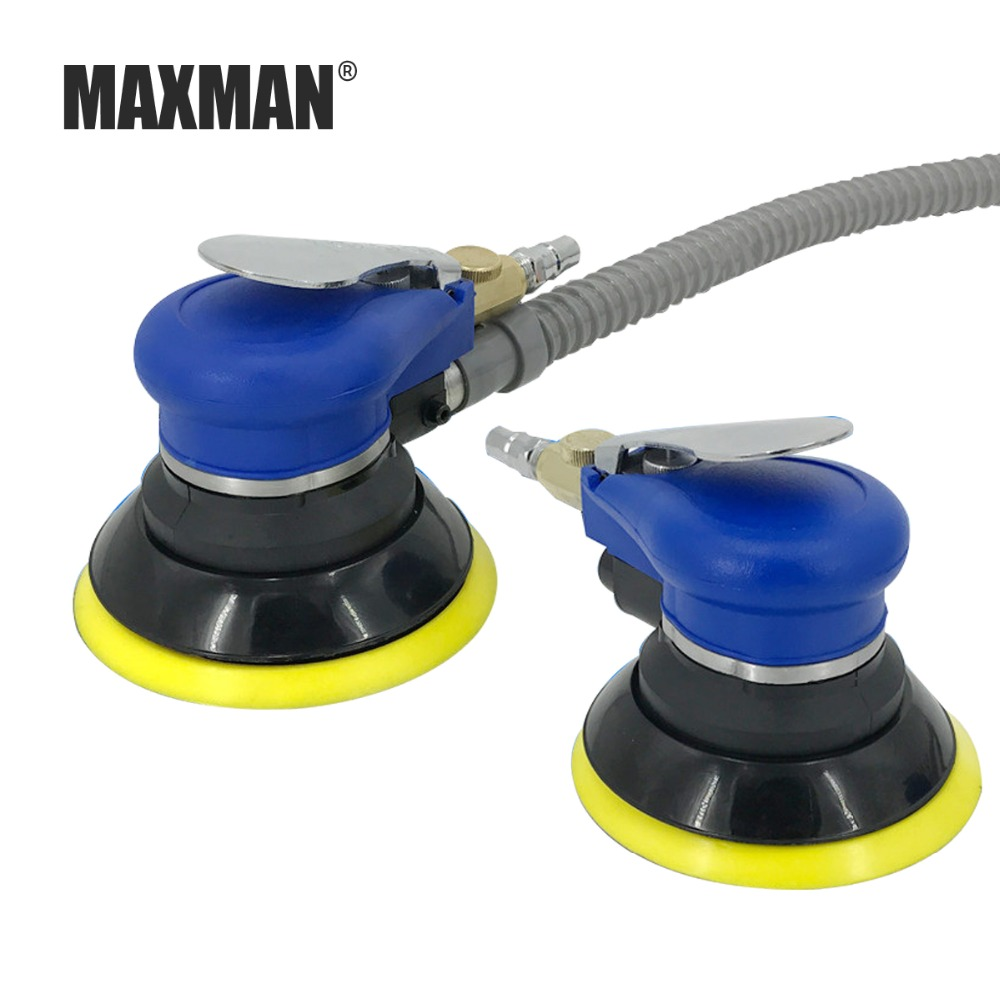 MAXMAN 5 Inch Random Orbital Air For Palm Sander & Car Polisher Vacuum Cleaner Set Tool 125MM Polishing Machine Power Tools hilda 5inches random orbital air for palm sander