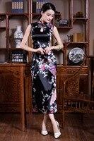 Shanghai Story Chinese tranditional clothing qipao traditional chinese dress Long cheongsam Sleeveless Dress 4 color