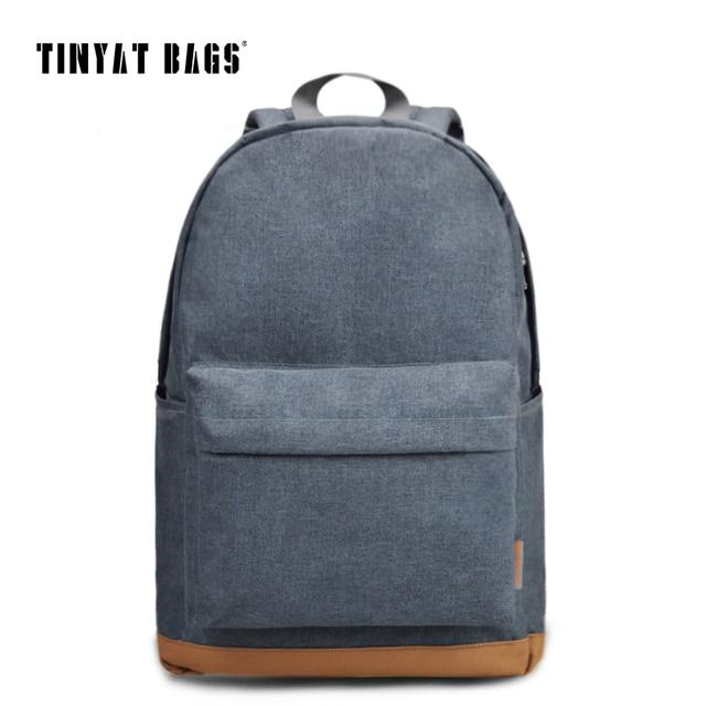 TINYAT Men's 15 inch laptop backpack computer male school ...