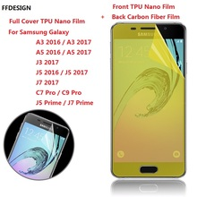 Full Cover Nano Film Foil For Samsung Galaxy A3 A5 J5 2016 C7 C9 Pro J7 Prime J3 2017 (Not Glass) Screen Protection