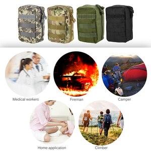 Image 5 - Lixada First Aid Kit Leere Tasche Reise Notfall Überleben Pouch Medical Lagerung Tasche Medizin Paket Pack Reisen Erste Hilfe Tasche