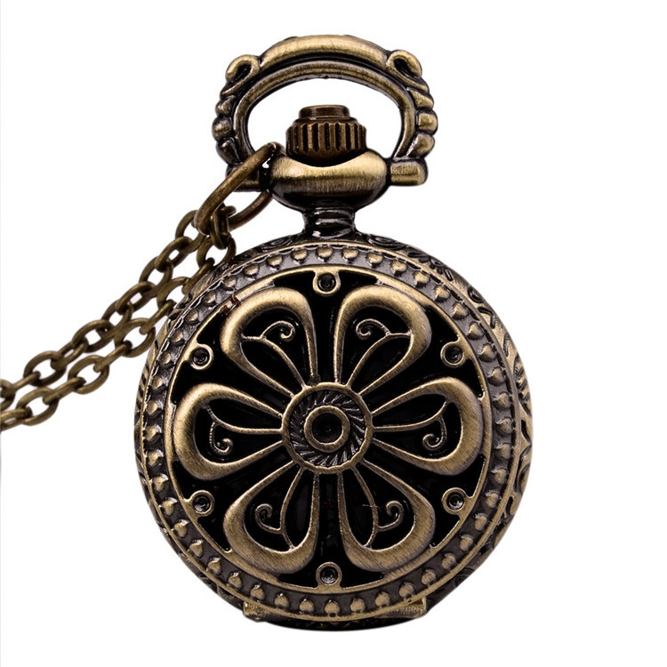 New Retro Vintage Bronze Petal Hollow Pocket Watch Steampunk Quartz Pendant Chain Clock Pocket Watch Hour Antique forChilren автомобильный dvd плеер joyous kd 7 800 480 2 din 4 4 gps navi toyota rav4 4 4 dvd dual core rds wifi 3g
