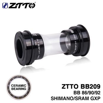 ZTTO ceramiczny wspornik dolny BB209 BB92 BB90 BB86 prasa pasuje do górski rower szosowy Shimano 24mm mechanizm korbowy do SRAM GXP 22mm tanie i dobre opinie Rowery górskie Aluminium stop