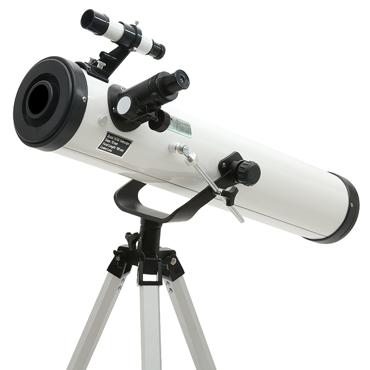 White HD Large Aperture(76mm) Astronomical Telescope Finderscope Protable Tripod Powerful Terrestrial Space Monocular Telescope f40040m entry level zoom terrestrial astronomical telescope compact tripod outdoor monocular telescope children gift kids toy