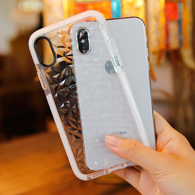 cheaper 4dc9b 71d25 US $3.38 20% OFF|Luxury 3D Diamond transparent case for iphone XS Max XR  soft silicone TPU case for iphone x 6 6s 7 8 plus Cover shockproof coque-in  ...