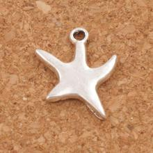 Smooth Wriggling Sea Star Starfish Spacer Charm Beads 120pcs Antique Silver Pendants Jewelry DIY L117 14x17.5mm antique silver te tra gram ma ton star pendants wizard necklace