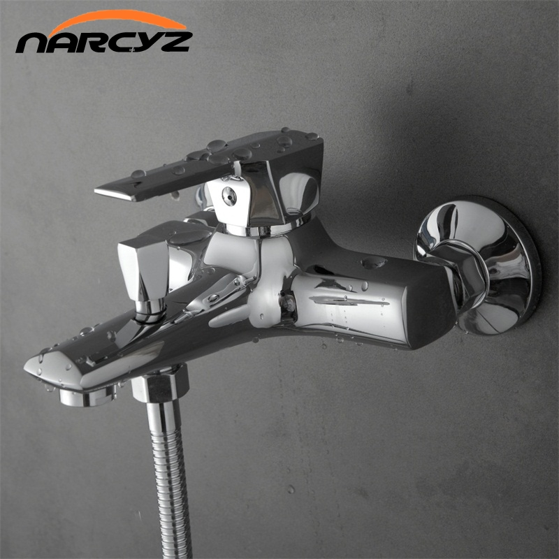 Narcyz Classic Bathroom Shower Faucet Bath Faucet Mixer Tap With Hand Shower Head Set Wall Mounted XT324 gappo classic chrome bathroom shower faucet bath faucet mixer tap with hand shower head set wall mounted g3260