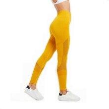 цены Women Sport Leggings Tight Yoga Pants Cutout Gym Leggings High Elastic Sport Wears Seamless Yoga Leggings High Waist Sportwear
