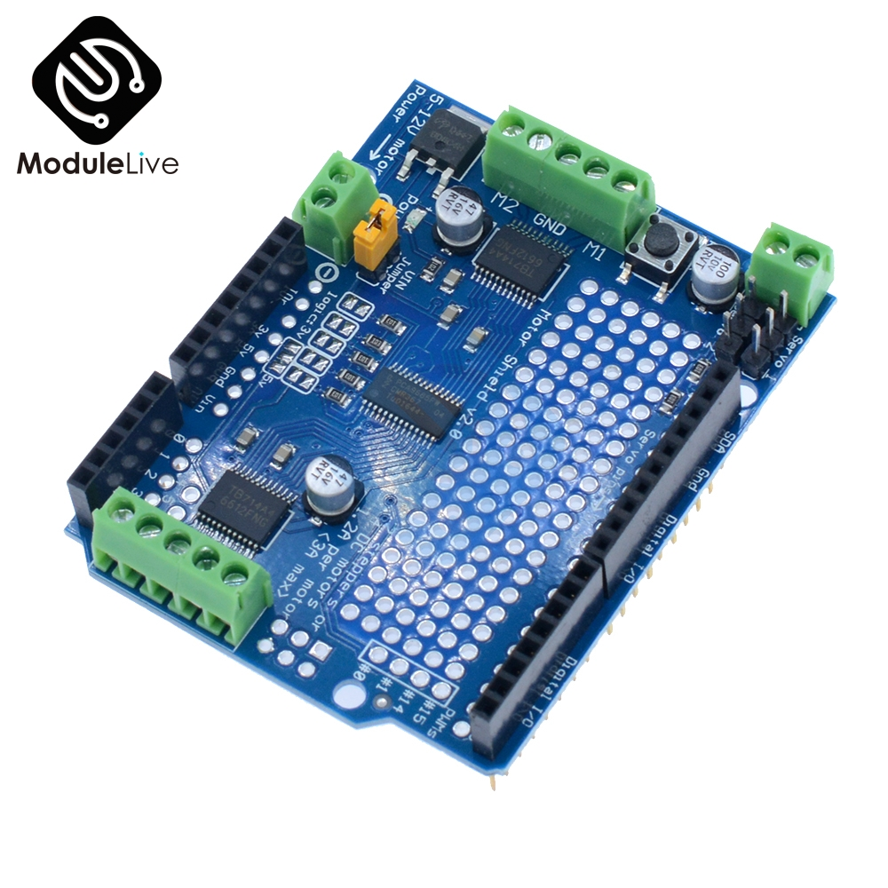 TB6612 Mosfet Stepper Motor Module PCA9685 Servo Driver Shield Board For Arduino Robot PWM Leonardo Replace L293D Speed Control new style45mm 1 3 4 sanitary fitting diaphragm valve clamp type stainless steel ss sus 316