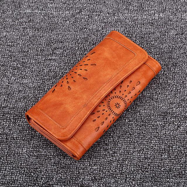 Ladies PU Leather Clutch Wallet