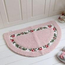Коврик для ванной комнаты, чайный столик, двухслойный, противоскользящий, замша, роза, моющийся, кухонный коврик для ванной, Товары для ванной, коврик для двери