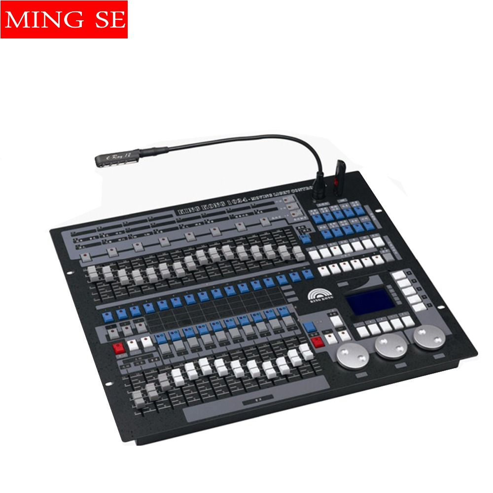 With flight case King Kong 1024 DMX Lighting Consoles Professional Stage Lights Pearl Avolite Controllers DJ Disco Equipment pearl king 150g
