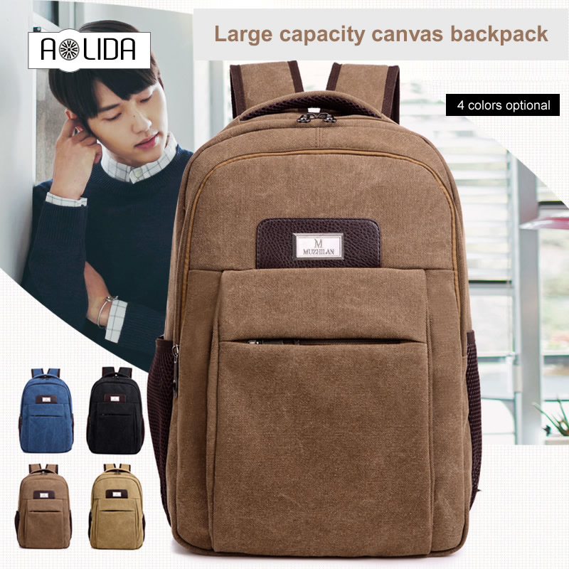 Men's Women Canvas Backpack Female School Bag For Teenagers Men Laptop Backpacks Men Travel Bags Large Capacity Student Bags dy0606 ladies bag 15inch women backpack suit for 14 15 notebook laptop bag student school bag travel mountaineering bag