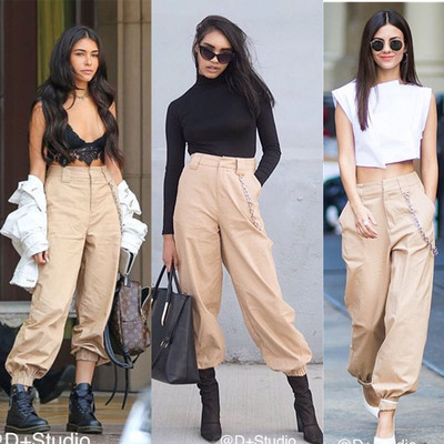 e3cd892eed0d8c I AM Gia Brand Solid Women Harem Pants Fashion Streetwear Casual Cargo Pants  Women Hip Hop Loose Pencil Pants cwp0004-5