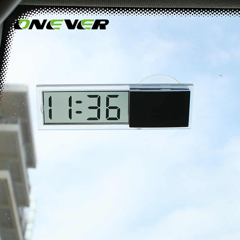 LCD Car Digital Window Clock On The Window Celsius Fahrenheit High Quality Car Digital Thermometer Ornament Accessories