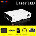 NIERBO 3D LED Projector Full HD 1080P Laser DLP Projectors Android Business Office Home Theater Camping Education Beamer Battery