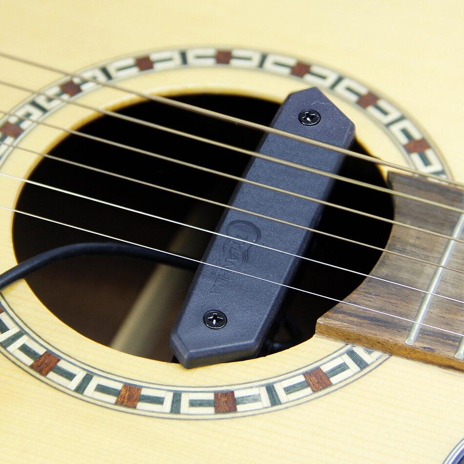 TYLANHUA système de préampli Skysonic T-901 pick-up avec piézo, Volume de ramassage le son-trou avec porte-crochets de guitare 81-98mm