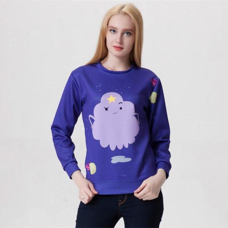 Harajuku 3D Print Adventure go Lumpy Space Princess Sweatshirts Fashion Long sleeve Cartoon Finn Jake Hoodies Tops Pullover