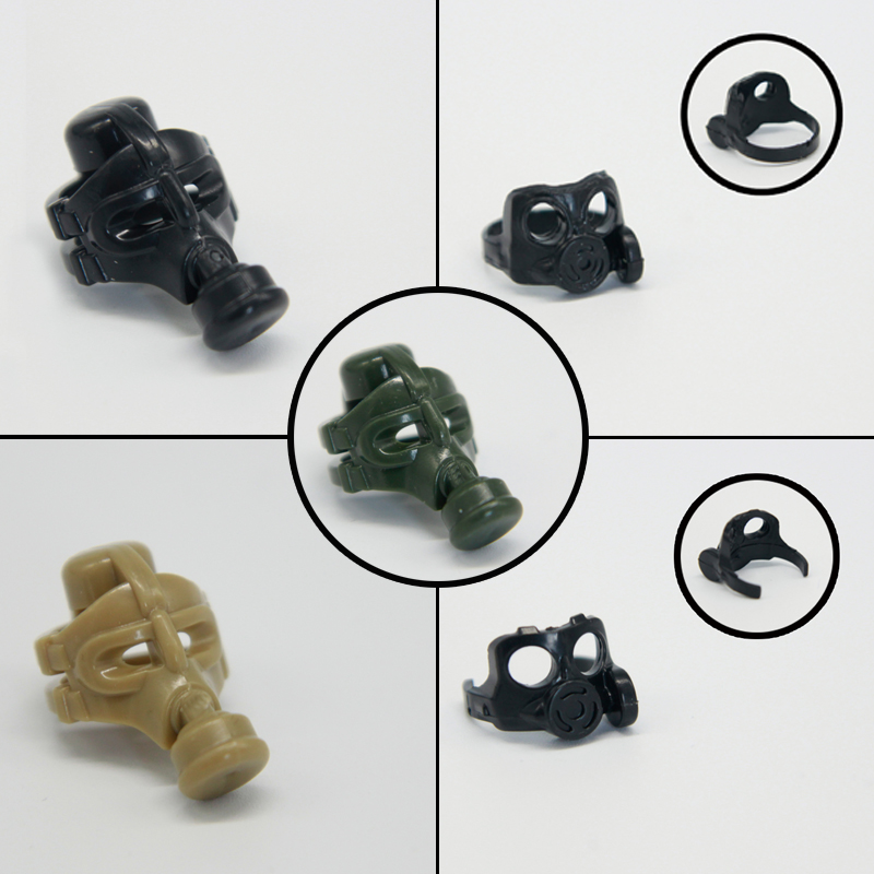WW2 Soldiers Masks Model Building Blocks Army Military Figures Weapons Block Police SWAT Gas Mask Accessories Blocks Kids Toys