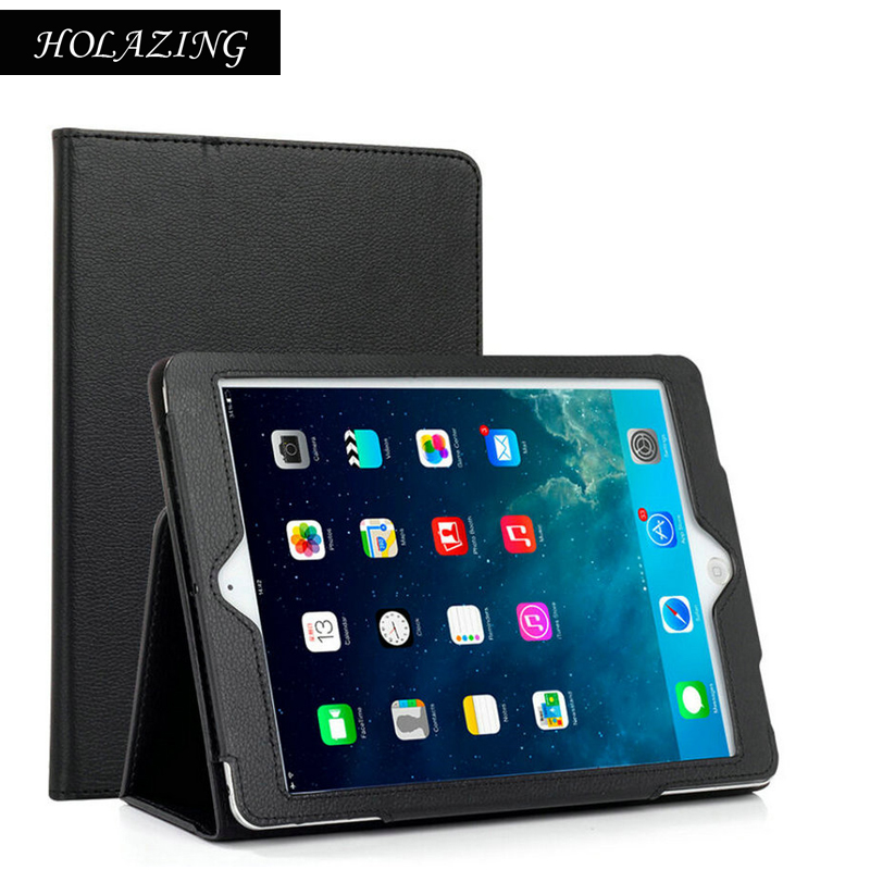 Stand Feature Folio Flip Case For iPad Air 2 PU Leather Auto Sleep Wake Full Body Protective Cover For Air2 House Shell slim case for apple ipad air air2 ipad 5 6 smart cover cowboy pu leather soft silicone folio stand protective shell film pen