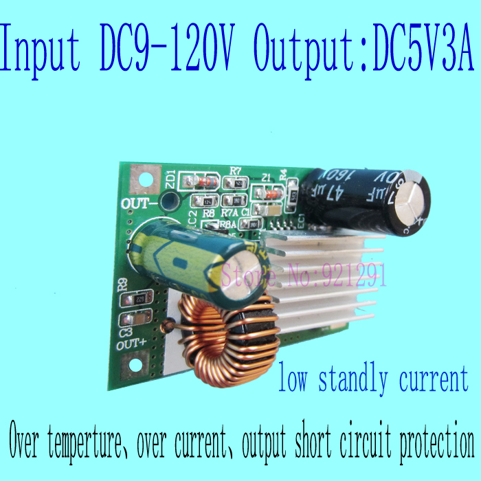 2pcs/lot! New!<font><b>DC</b></font>-<font><b>DC</b></font> Step Down Converter Module <font><b>DC</b></font> 9~120V 100V 84V 72V 60V 48V 24V <font><b>12V</b></font> to <font><b>5V</b></font> <font><b>3A</b></font> over-current protection image