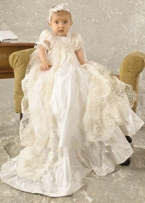 Новый Крещение платье девочка крещение платья для маленьких девочек комплект плащ платье Vestido De batizado Детские Vestido De Noiva
