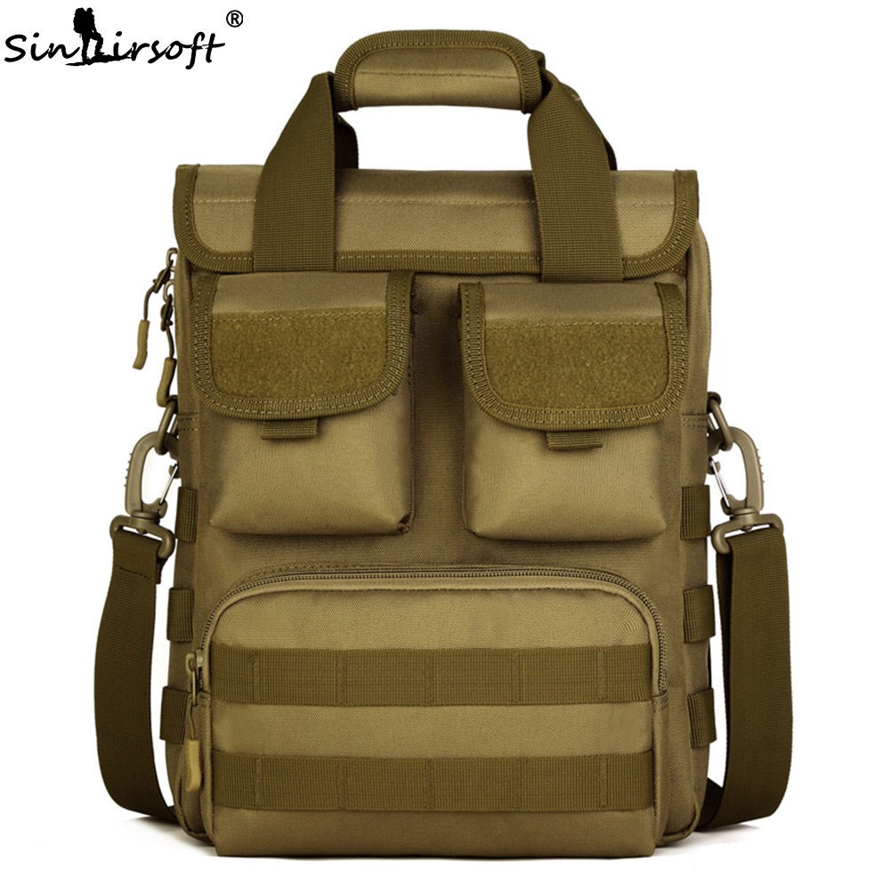 Tactical Backpack Nylon 12 Inch Tablet Military Bags Cross Body Camouflage Molle Hunting Camping Hiking Sports Functional Bag