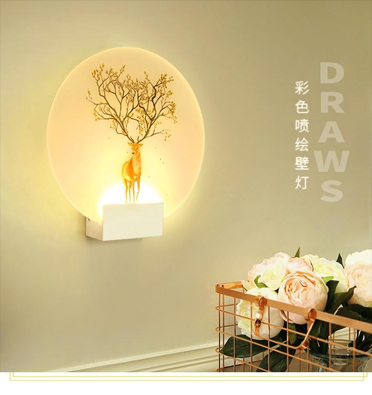 imagem lâmpada de parede cabeceira quarto corredor