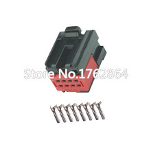 цена на 5 Sets 8 pin  for female connector plug connector with terminal 1419158-8 DJ7082-1-21 lamp plug