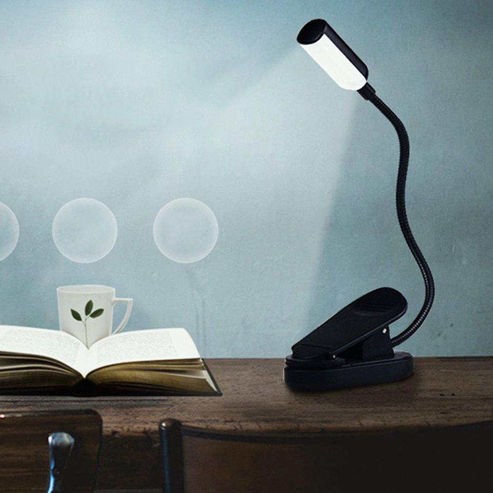 Desk Lamps Lights & Lighting Bendable Flexible Reading Lamp Folding Led Clip On Night Light Small Portable Lamp For Home School Travel