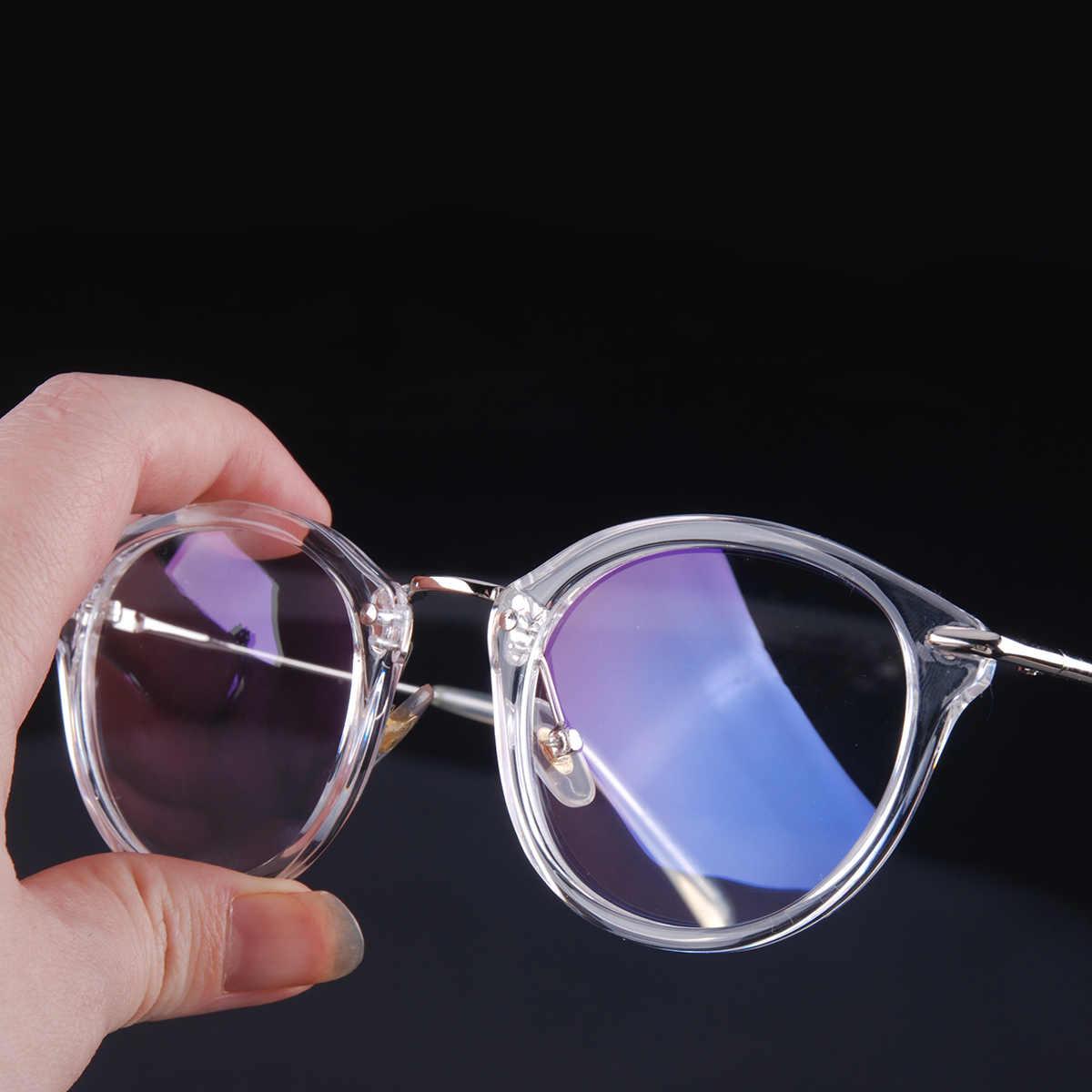 f4d4a35c6e0 Vazrobe Transparent Glasses Women Men Small Round Nerd Points Eyeglasses  Frames for Woman Male Prescription Vintage